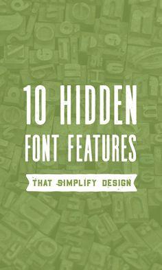 10 Hidden Font Features That Simplify Design