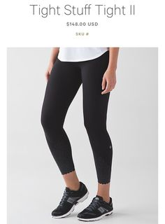 Tight Stuff Tight II | Black, with pockets(!) and reflective design | Lululemon