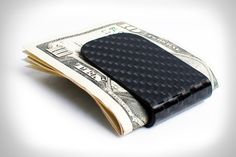 Dad will love this carbon fiber money clip.