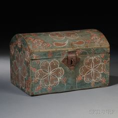 Paint-decorated Dome-top Box | Sale Number 2680B, Lot Number 9 | Skinner Auctioneers