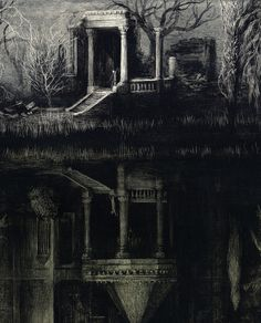 Fall of the House of Usher — santiagocaruso:   Santiago Caruso : The Spectral...