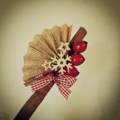 Winter cinnamon decoration Christmas Art, Simple Christmas, Easy Christmas Decorations, Cinnamon, Winter, How To Make, Handmade, Canela, Winter Time