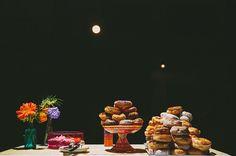 Doughnut bar from a beautiful Florida Beach Wedding. Comfort foods, right? Right? ;P