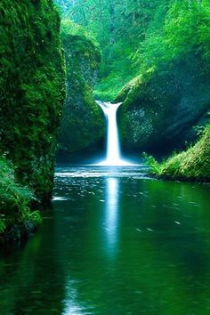 Green and Waterfalls