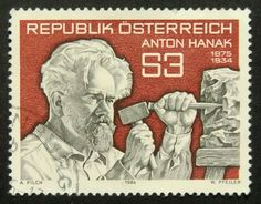 The Sculptor Anton Hanak 1875-1934 Austria by PassionGiftStampArt