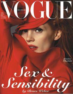 Jessica Chastain by Bruce Weer Vogue Deutsch January 2013