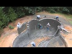 Gunite Pool Application with Prestige Concrete Products of Orlando - YouTube