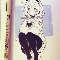 Finally have a day off today, time to draw like crazy Anime Drawings Sketches, Anime Sketch, Kawaii Drawings, Manga Drawing, Manga Art, Cute Drawings, Kawaii Anime Girl, Kawaii Art, Anime Art Girl
