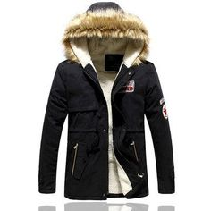 Winter Wool Mid Long Slim Fit Hooded Thick Warm Coat Jacket for Men is Warm - NewChic Mobile