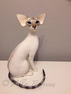 Needle felted 100% wool . Siamese cat by coalla on Etsy