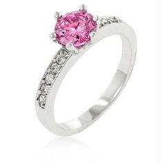 Petite Pink Engagement Ring