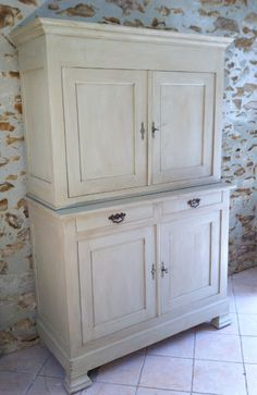 French style / Old Louis Phillippe Buffet Dresser / deux corps / Frenchfinds.co.uk