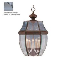 Pewter South Park 5 Light Outdoor Lantern Pendant