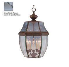 Pewter South Park 5 Light Outdoor Lantern Pendant