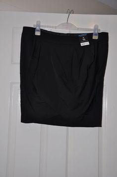 Ladies skirt *S45* Dorothy Perkins pencil wrap black - size 18 BNWT £22 RRP