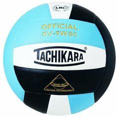 Tachikara SV5WSC Sensi-Tec® Composite High Performance Volleyball (Powder Blue/White/Black)