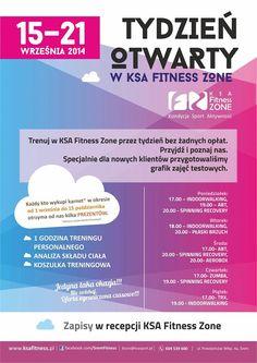 Tydzień otwarty w KSA Fitness Zone. więcej na www.sportowy.naszsrem.pl