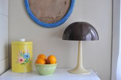 1960s Vintage Portable TableTop Mushroom Lamp with by TheWildPlum, $38.00