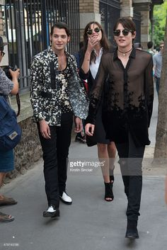 Peter Brant Jr with Harry Brant on day 3 of Paris Collections: Men on June 26, 2015 in Paris, France.