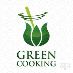 Logo dedicated for a online blog with vegetarian recipes but could be also used for cooking classes where people learn about cooking healthy food.