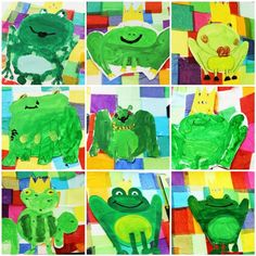 Royal frogs art project from Balancing Everything