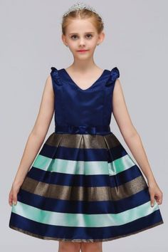 67653f83bef Baby Girls Striped Dress For Girls Formal Wedding Party Dresses Kids  Princess Christmas Dress costume Children