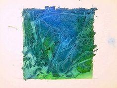 Clever Akvarel Technika s použitím plastové fólie pro textury