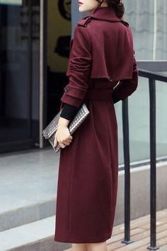 Yilian - Allison Winter Coat in Red Wine