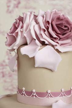 Beautiful shading effect on these dusky pink sugar roses