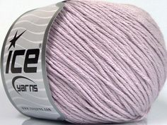 Fiber Content 60% Bamboo 40% Cotton Light Lilac Brand Ice Yarns Yarn Thickness 3 Light DK Light Worsted fnt2-50667