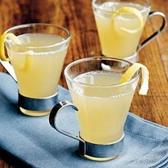 Ginger infuses this lemony hot toddy with spiciness--the perfect antidote to chilly winter weather.