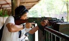 Practice your aim with an outdoor gun range shooting experience with 25 rounds
