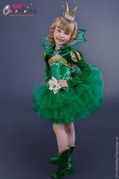 Детские карнавальные костюмы ручной работы. Ярмарка Мастеров - ручная работа. Купить Костюм лягушки. Handmade. Тёмно-зелёный