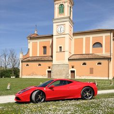"""""""Given what i had to play with, this was the calmest it ever was. The Ferrari 458 Speciale taking a break outside Maranello Take A Break, Take That, Ferrari 458, The Outsiders, Play, Instagram Posts"""