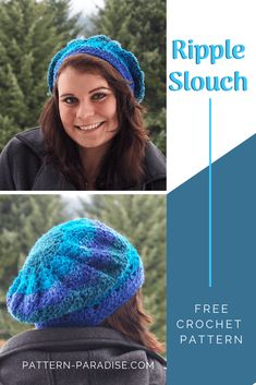 Free Crochet Pattern: Ripple Slouch Hat | Pattern Paradise