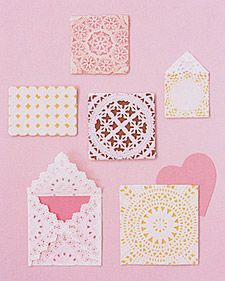 Package your valentines in lacy envelopes made from paper doilies.