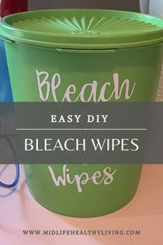 Actually contains bleach! Making these DIY Bleach Wipes is quick and easy. You only need a few ingredients for homemade Clorox wipes. This is a great recipe to have on hand so you have wipes for cleaning even when the stores are sold out!
