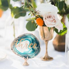"""sugar + chic shop on Instagram: """"Agate table numbers. My fave things. Like ever.  Event by @wink_weddings, photo by @rachelcast @ricocast,..."""