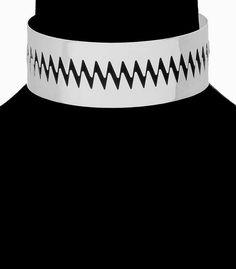 Zig Zag Silver Choker Necklace Earrings Set Rihanna Style Punk Armor Sawtooth Tribal Statement