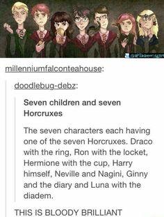 Seven children with seven horcruxes!
