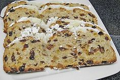 Christmas Recipes Christstollen nach Granny Martha (recipe with picture) by Delicious Cake Recipes, Yummy Cakes, Sweet Recipes, Yummy Food, German Bread, German Desserts, White Cakes, Gateaux Cake, German Recipes