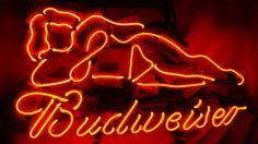 "Budweiser Sexy Lady Neon Sign Light Woman Girl Bar Live Nude 16"" x 13"" | eBay"