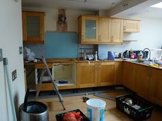 Before/After images - Colella Interiors kitchen installation process