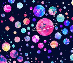 Galaxy Cosmic Voyage Fabric - Distant Galaxy By Endemic - Outer Space Galaxy Planet Black Cotton Fabric By The Yard With Spoonflower Wallpaper Kawaii, Galaxy Wallpaper, Wallpaper Backgrounds, Iphone Wallpaper, Fabric Wallpaper, Pattern Wallpaper, Galaxy Planets, Galaxy Art, Voyage Fabric