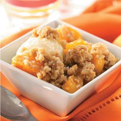 Peach Crisp Recipe from Taste of Home -- shared by Dianne Esposite of New Middletown, Ohio