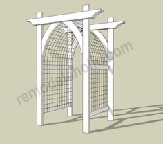 Vegetable Garden Arbor DIY Plans -- archway trellis/gate for entry.