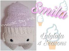 ice cream Smila made by Ina K. / crochet pattern by lalylala