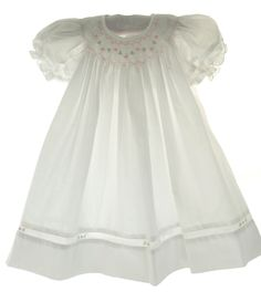 Newborn Girls White Smocked Daygown & Bonnet - Petit Ami - potential coming home dress Newborn Outfits, Kids Outfits, Newborn Girls, Infant Girls, Baby Girls, Smocked Baby Dresses, Baby Girl Dresses, Smocked Clothing, Smocking Baby