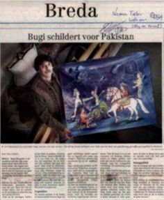 Dutch news Paper Announcing my services to Pakistan during the Relief for Pakistan SERVICES that i am doing since 1989-