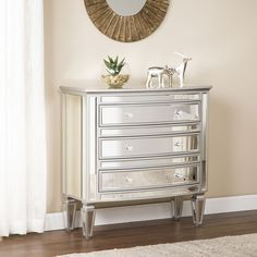 Mirrored 3-Drawers Accent Chest Sideboard Table With Mirrors Storage Furniture: $447.00End Date: Feb-28 07:03Buy It Now for… #eBay #Amazon